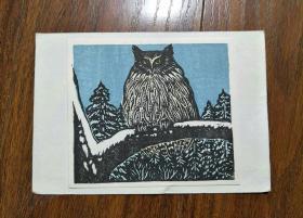 日本木刻水印版画:手岛圭三郎