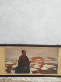大队部拆迁收到伟大领袖毛主席油画,人间正道是沧桑,包浆浓厚,红红收藏价值高,保老保真。
