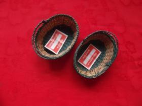 草编工艺小件 草蓝 3×5.5×8 厘米 案头 书架小摆件    对