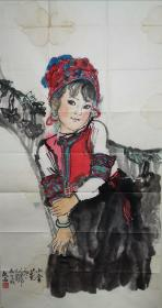 刘文西国画,十八年前在退休领导家里收来的,收藏了这么多年的作品,没放好少有破损,保证是老东西,