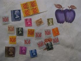 香港邮票-----女王(信销票)共23枚合售
