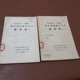 中国民间文学三套集成 环江毛南族自治县歌谣集(上下册)