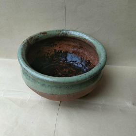 早期小青釉紫砂香炉