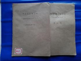 【严庆祥钤印旧藏】1975年上海音乐学院编印《中国器乐曲分析(民族民间器乐曲分析部分)(民族民间器乐曲谱例集)》2册1套,16开61页+109页。