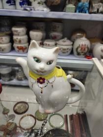 文革小猫造型酒壶一把