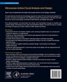 Microwave Active Circuit Analysis and Design-微波有源电路分析与设计
