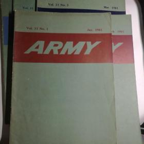 ARMY1981英文杂志(1.2.3.8.12期)【 正版品好 5册合售 】