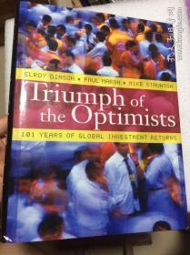 现货 Triumph of the Optimists: 101 Years of Global Investment Returns 英文原版 E. 迪姆森 证券市场 投资收益百年史 股票,债券,票据,货币和通货膨胀 投资回报 埃罗伊·迪姆森  乐观主义者的胜利:101年的全球投资回报