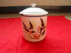搪瓷杯,喜鹊闹梅