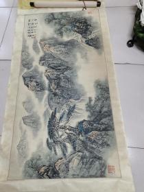 江苏著名山水画家苏春生作品8平尺保真
