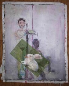 手绘布面油画:无款20180312-12(人物  画芯尺寸49x39)绘画时间不详