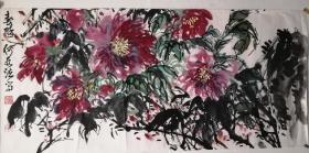 何水法花鸟画,十年前托芯,包手绘。