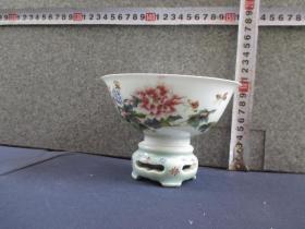 出口创汇期精品:景德镇制手绘花卉碗转心碗
