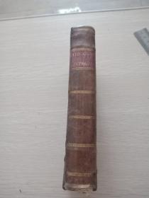 catechisme historique contenant en abrege lhistoire sainte la doctrine chretienne  法文原版皮面精装1819年版