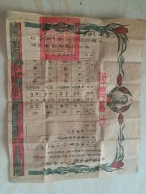 民国三十年(土地执照)带有毛主席画像 附带房屋执照  品相如图