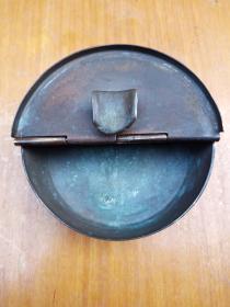 民国铜烟灰缸(包老)少见