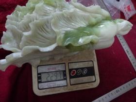 玉雕白菜摆件