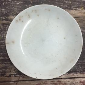 早起瓷盘,白色近豆青,年代不详,大个