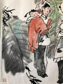 (双钻老店优惠,1幅9折,2幅8.5折,3幅8折,钟亚樱桃季节,省诗词学会会长收藏作品流出,画面有收藏章,介意慎购。
