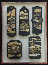 80年代初中国徽墨一组 歙县胡开文墨厂制作 共5锭 总重190g 现货包快递