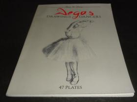 2手英文 Degas: Drawings of Dancers 德加舞者素描 印的一般 sec61
