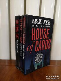House of Cards,纸牌屋三部曲英文版,无笔记无划线,包邮。