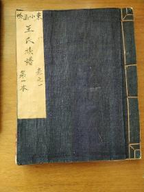 王氏族谱,胶东东小渠砼,两本,老账本,新抄写,始祖王通