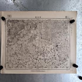 民国=金华市兰溪县诸葛镇地图  包括周边的寿昌,龙游 一部分,日军侵华罪证(4开大)地形图。包老保真