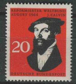 德国邮票 西德 1964年 基督教加尔文派世界联盟 1全新