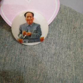毛主席塑料像章