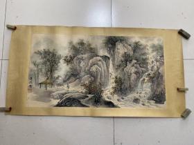 八十年代苏州著名画家庞彦德精品山水横批(包老包真)