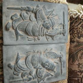 晋文化砖雕 门神