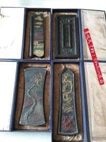 下乡收到原装描金雕刻老墨块 细节如图,标的是单个价格