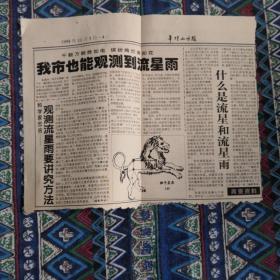 平顶山日报1998年11月5日残品