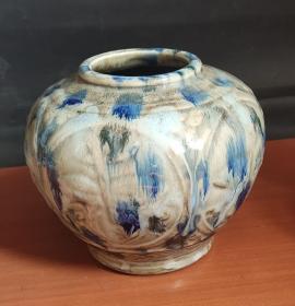 日本回流带款花瓶D2197