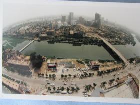 潍坊老照片一组五张——四张潍坊城区俯瞰图,一张风景照——鸟瞰城区图难得一见。