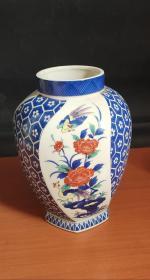 日本回流带款花瓶D2196