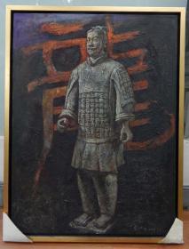 中央美院毕业生彭仲华《兵马俑》油画创作