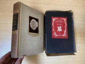 (限印签名本,带书匣)The Life of Samuel Johnson   鲍斯威尔《约翰逊博士传》,王佐良说是英语中最完美的传记,董桥:英国人都爱鲍斯韦尔的《约翰逊传》,爱佩皮斯的《日记》,说是最佳床边名著。布面精装毛边本,限印一千册,经常给Heritage Press 画插图的插画家Gordon Ross签名版,1945年老版书,16开,带书匣