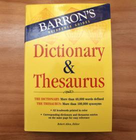 正版现货,Barron's Dictionary & Thesaurus (Barron's Reference Guides)