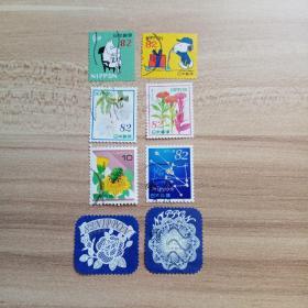 外国邮票 日本信销邮票8枚  (货号:乙02-2)