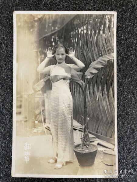 民国明星老照片:明星《貂班华》旗袍装、尺寸8.5/13.5Cm、品相如图所示!稀罕。