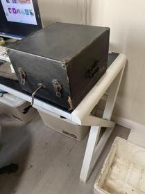 民国瑞康洋行手提留声机功能正常可以放音,声音洪亮