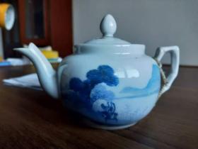 民国江苏名家闻兰亭赠民国著名橡胶大王施耕尹茶壶