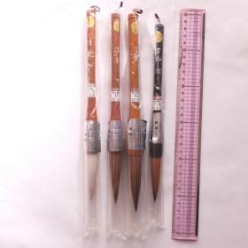 日本传统工艺きくや清乐 4号5号6号毛笔羊毫兼毫4根N682