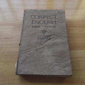 《CORRECT ENGLISH FIRST COURSE 修正英语第一课程》精装 1941年插图本
