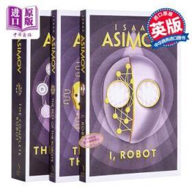 阿西莫夫 机器人短篇小说系列 3册 英文原版-