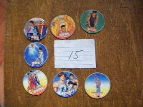 小二郎--灌篮高手圆卡(闪卡园卡,共计7张)8-85品