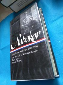 Nabokov Novels and Memoirs 1941-1951 : The Real Life of Sebastian Knight / Bend Sinister / Speak, Memory(The Library of America)纳博科夫小说集和回忆录《说吧,记忆》英文原版 美国文库 布面精装本