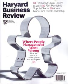 Harvard Business Review 哈佛商业评论2020年9-10月合刊英文杂志